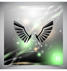 Abstract background with wings vector image vector image