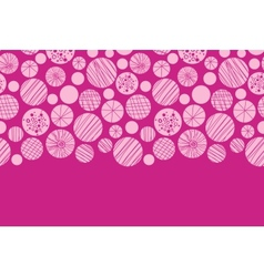 Abstract textured pink circles horizontal border vector image vector image