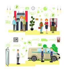 banking concept in flat style vector image