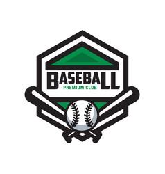 baseball premium club logo template design vector image
