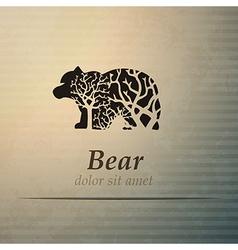 Bear logo design template vector image