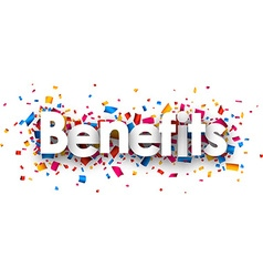 Benefits sign vector