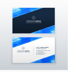 Blue business card design template vector