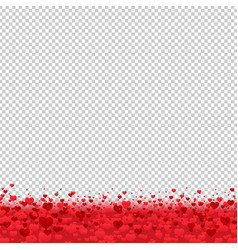 Border with hearts vector