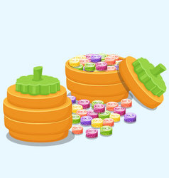Boxes sweets vector