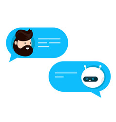 cute smiling chat bot is written vector image vector image