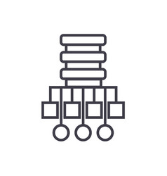 database network line icon vector image vector image