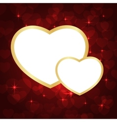 Frame for pictures lovely hearts vector