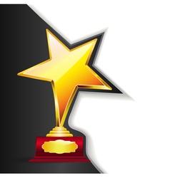 golden trophy vector image vector image