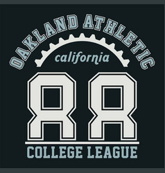 Graphic oakland athletic california vector