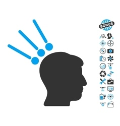 Head test connectors icon with air drone tools vector