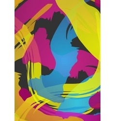Holi colored abstract background vector