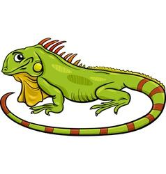 Iguana animal cartoon vector