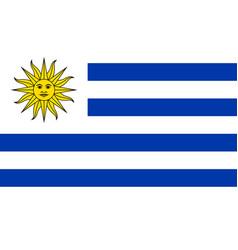 image of uruguay flag vector image vector image