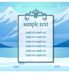 Mountain scenery and space for your text vector image