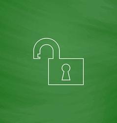 Open padlock computer symbol vector