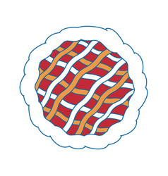 Pie dessert food vector