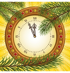 Pine and clock vector image