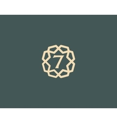 Premium number 7 logo icon design luxury vector