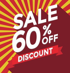 Sale 60 percent off discount vector