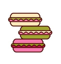 Set of different taste macaroons vector