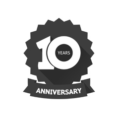 Ten years anniversary sticker icon 10th vector