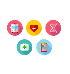 trendy flat science icons vector image