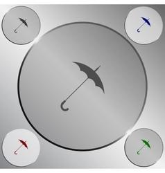 Umbrella symbol icon vector image