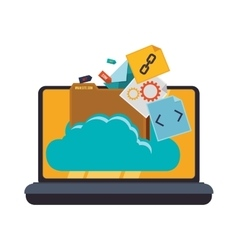 Web hosting and cloud computing vector image