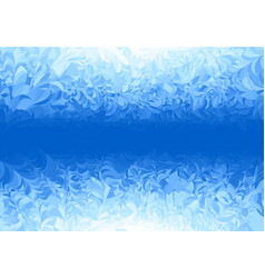 winter blue frost pattern on white background vector image vector image