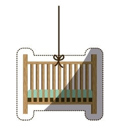 Isolatd baby cradle design vector