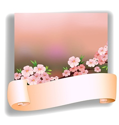 An empty space in front of a stationery vector image