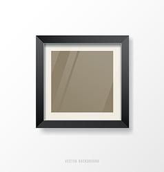 Modern black frame vector image