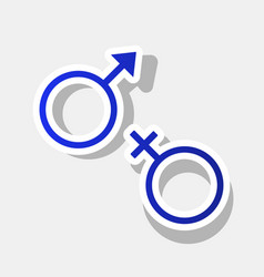 sex symbol sign new year bluish icon with vector image