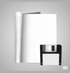 Open the paper journal floppy vector