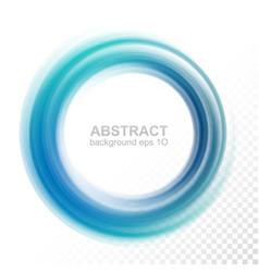 abstract transparent blue swirl circle vector image