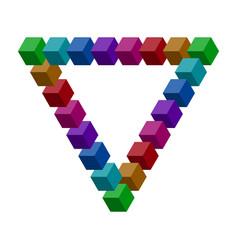 penrose triangle vector image