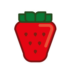 Strawberry sweet fruit vector