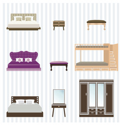 Bedroom furniture design vector