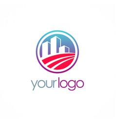 Business building company logo vector