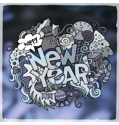 New year blurred background vector