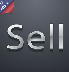 Sell icon symbol 3d style trendy modern design vector