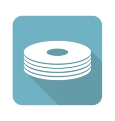 Disc pile icon vector image