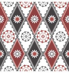 rhombuses pattern vector image