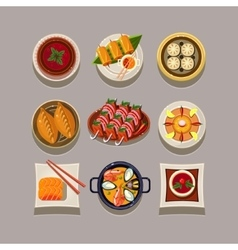 Korean food vector image