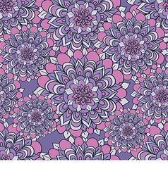 Beautiful pattern with flowers on a purple vector