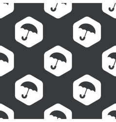 Black hexagon umbrella pattern vector