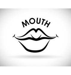 Mouth design vector