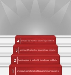 Steps to success image vector