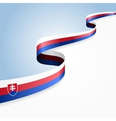 Slovak flag background vector